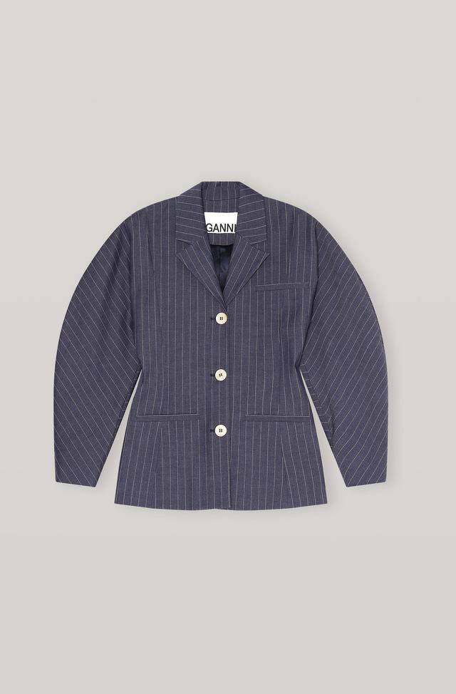 Ganni Stretch Stripe Shirt Jacket