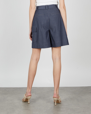 Ganni Stretch Stripe Shorts