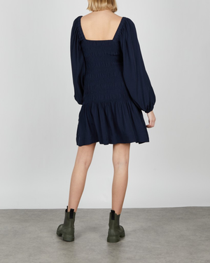Ganni Ripstop Ecovero Smock Mini Dress