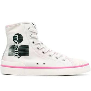 Isabel Marant Benkeen high top tye denim sneakers