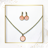 SET earrings & necklace LIGHT PINK