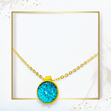 SET earrings & necklace TURQUOISE