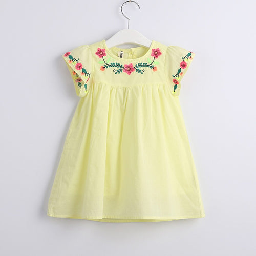 Casual yellow dress for Toddler Kids Baby Girls