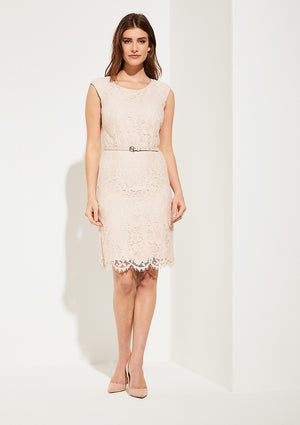 Lace Dress W/Belt - Sonia's Runway