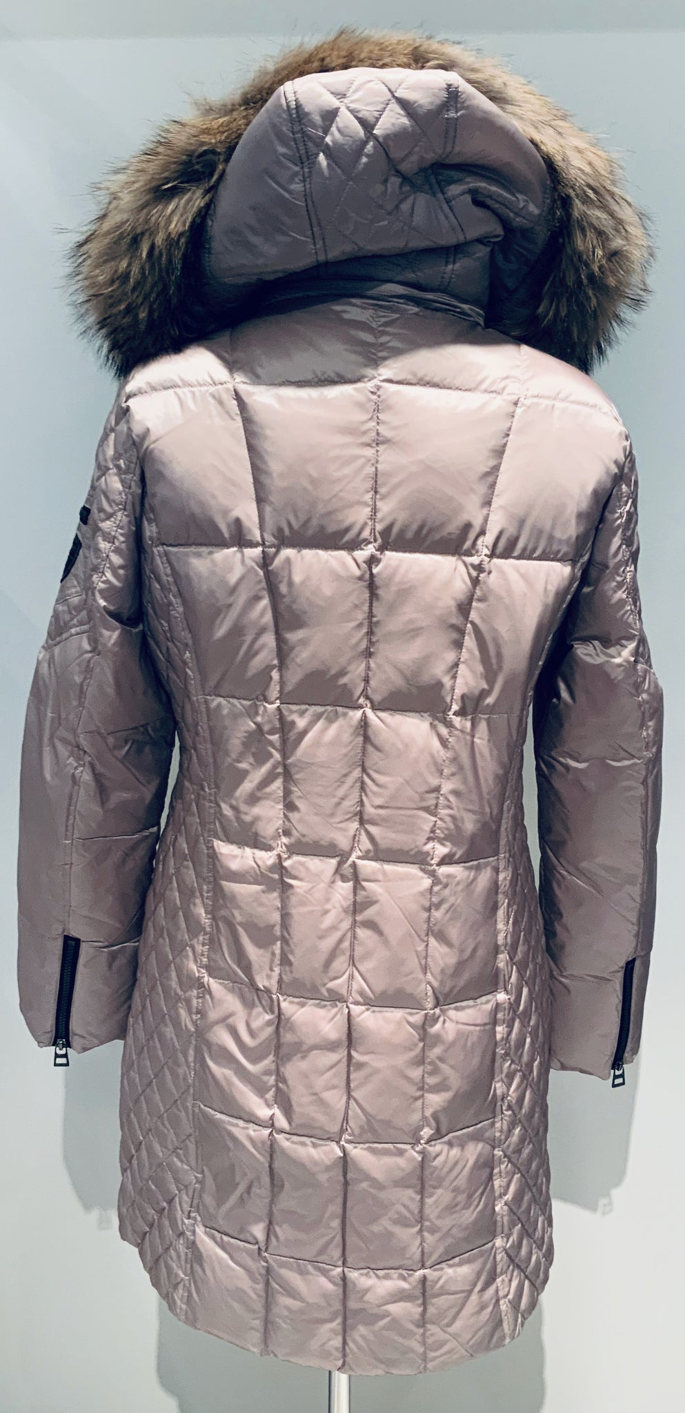 Quilted Parka W/Racoon Fur Hood