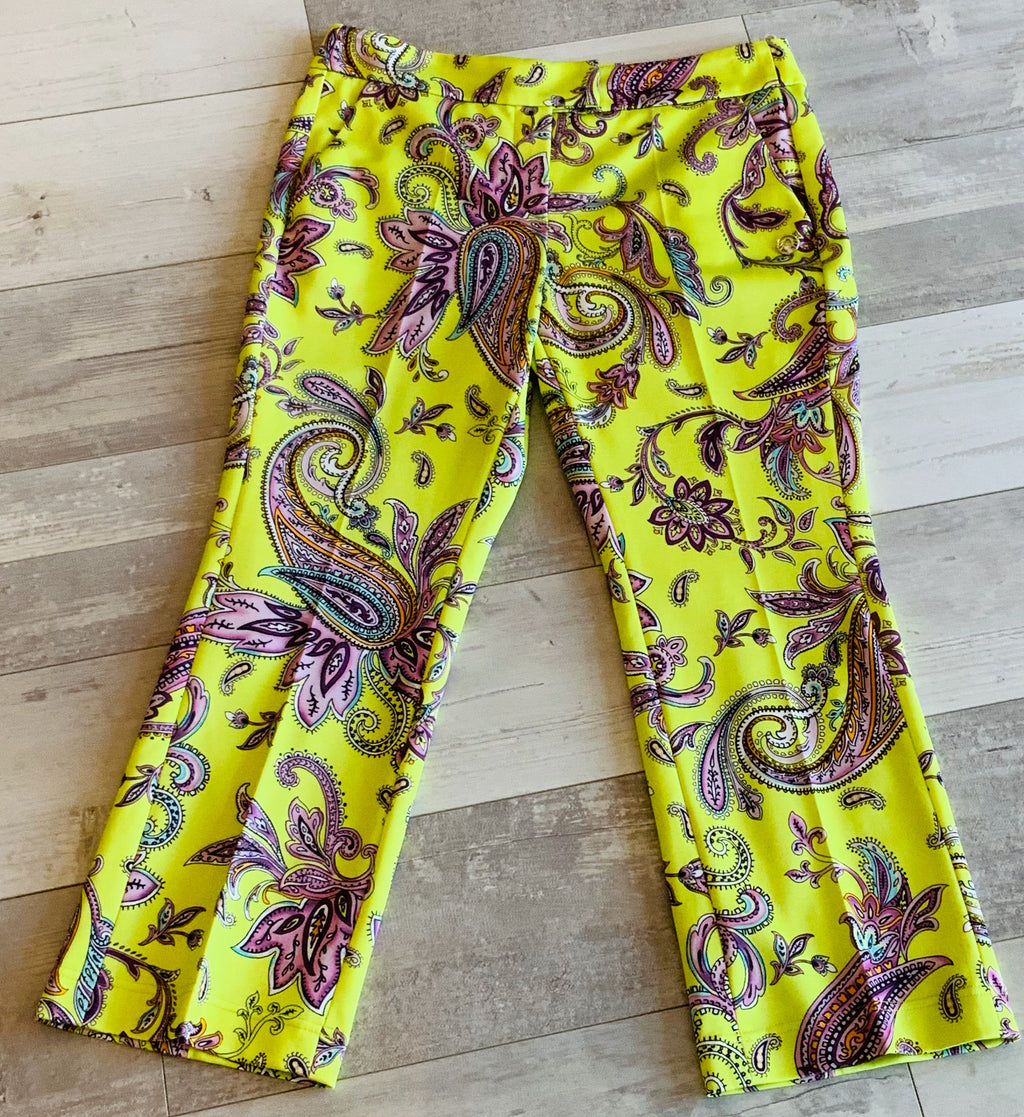 Paisley Print Ankle Pant