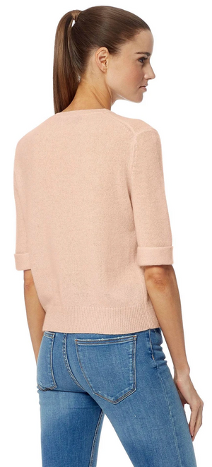 Cashmere Short Sleeve Sweater - Sonia's Runway
