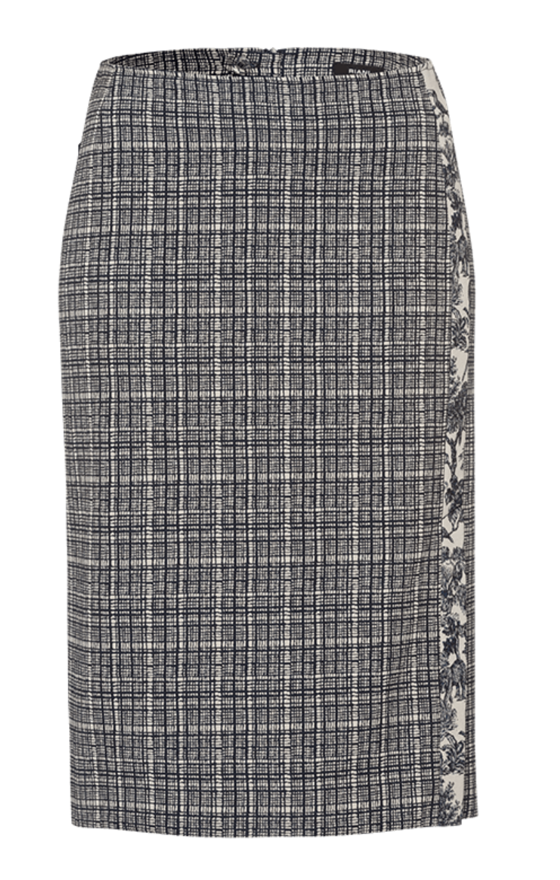 Midi Skirt W/Checked Pattern - Sonia's Runway