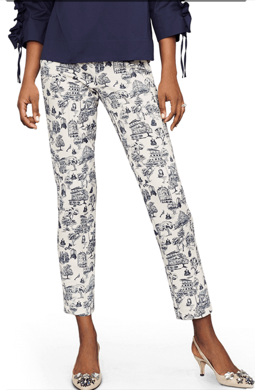 Print Pull On Pant - Sonia's Runway