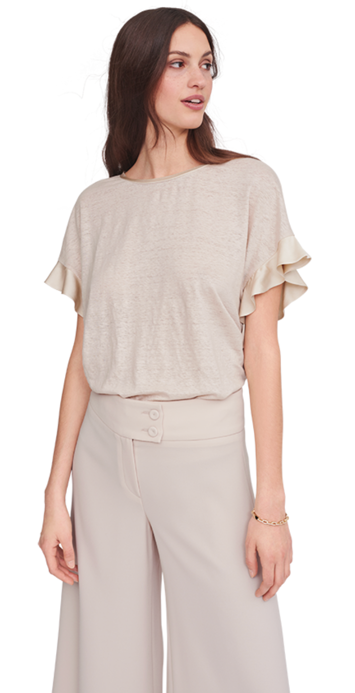 Ruffle Sleeve Top - Sonia's Runway