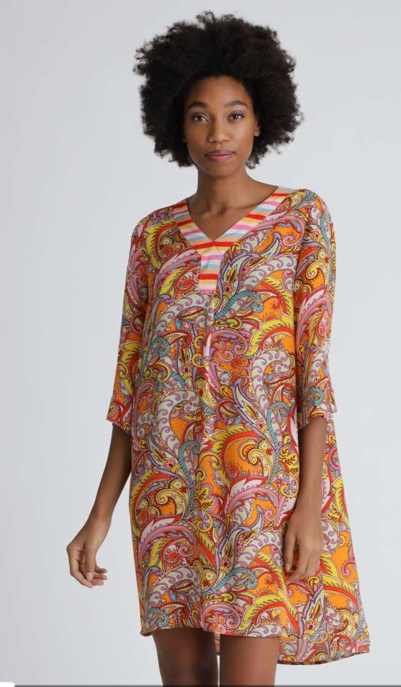 Paisley Tunic Dress - Sonia's Runway