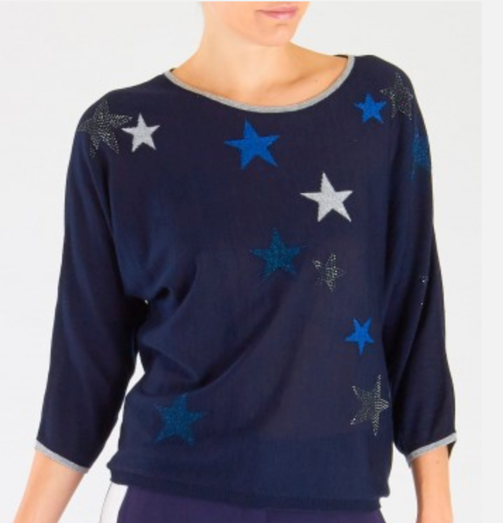 Star Print Sweater - Sonia's Runway