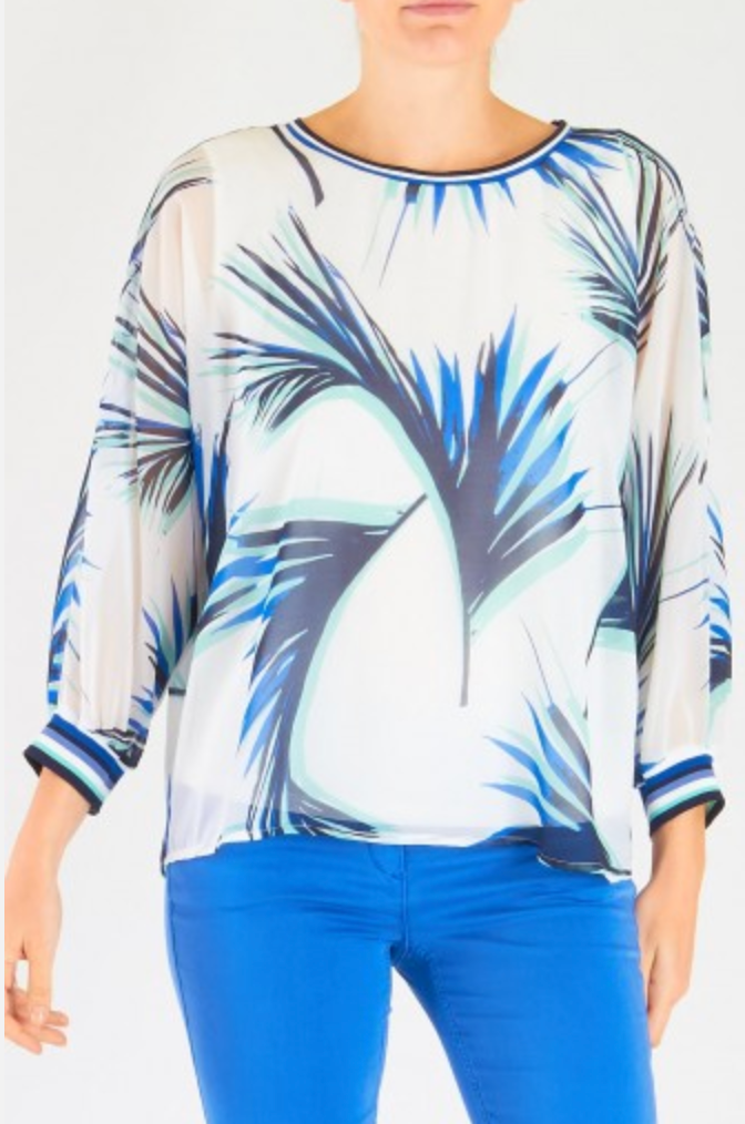 Leaf Print Top - Sonia's Runway