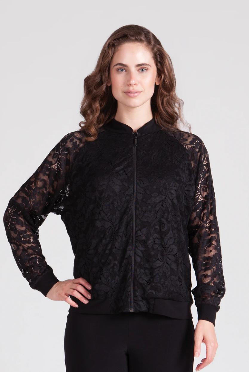 Lace Reversible Bomber Jacket - Sonia's Runway