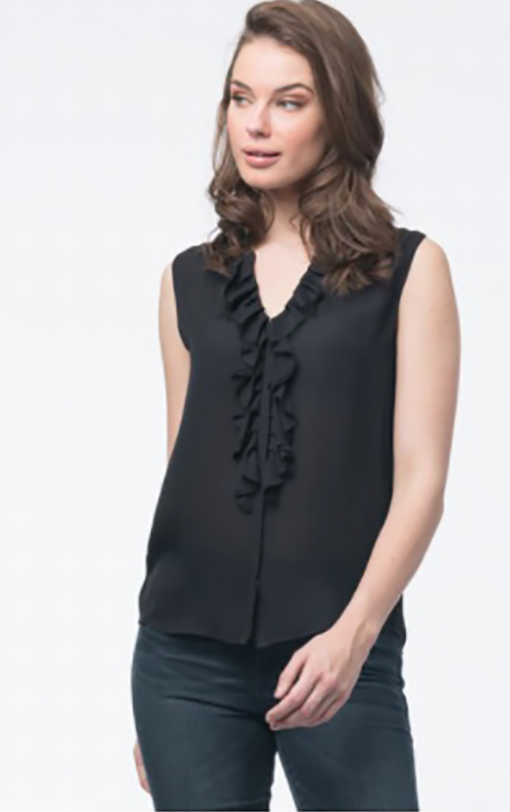 Silk Ruffle Top