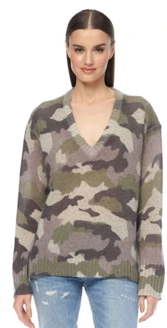 Emerie Camo Sweater