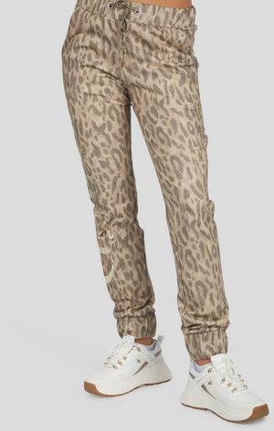 Leopard Print Sweat Pant
