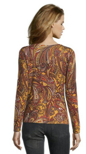 Paisley Sweater W/Crystals
