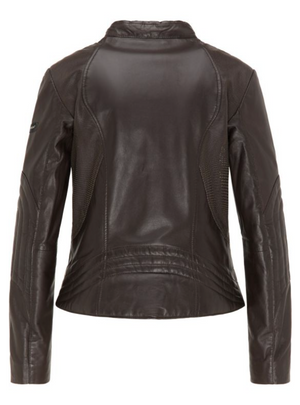 Leather Jacket W/Detail