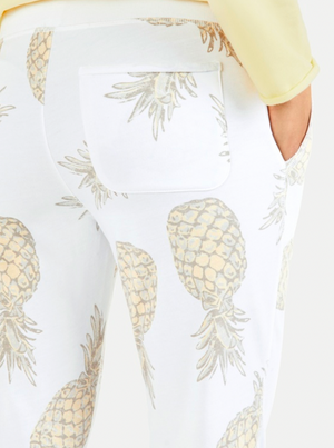 Pineapple Print Sweat Pants