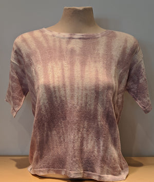 High Neck Linen Tie Dye Top - Sonia's Runway