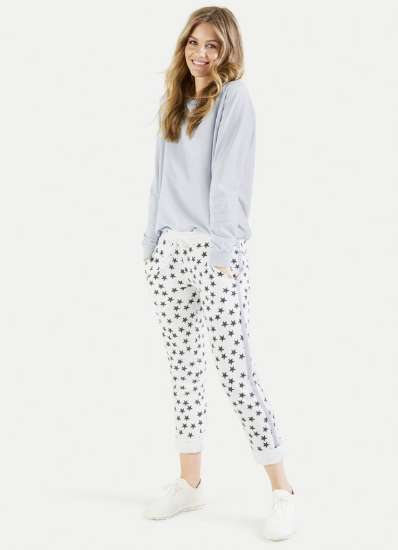 Star Print Sweat Pant - Sonia's Runway