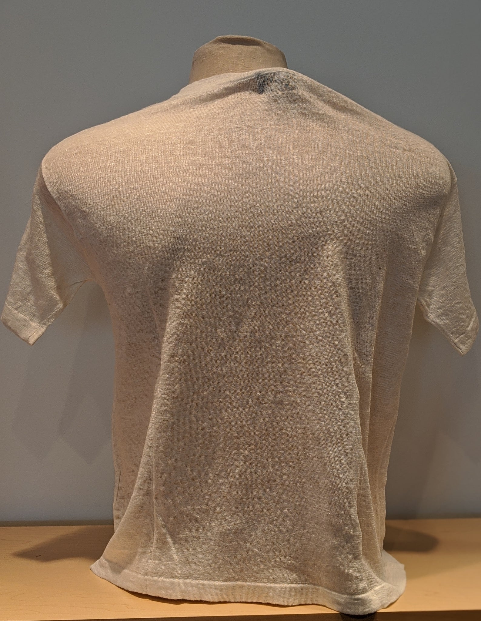 High Neck Linen Tee - Sonia's Runway