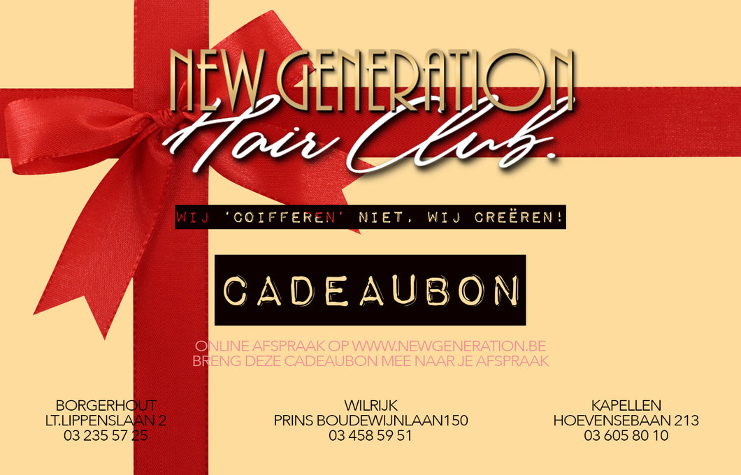 New Generation Hair Club Cadeaubon