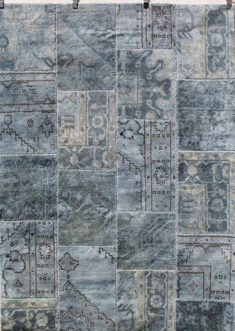 Vintage Patchwork Overdyed Wool Rug -Size 1.70m x 2.40m
