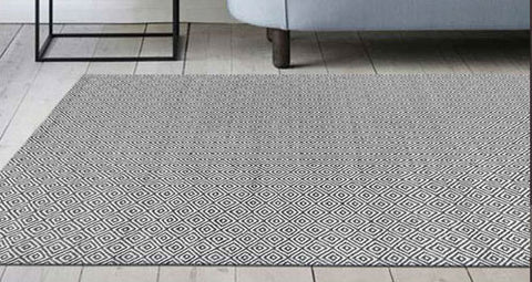 Diamond Flatweave Wool Rug