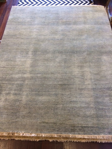 Agra Grass Wool Rug Blue/White