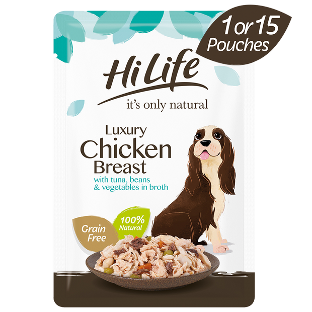 HiLife its only natural Luxury Chicken with Tuna & Garden Vegetables
