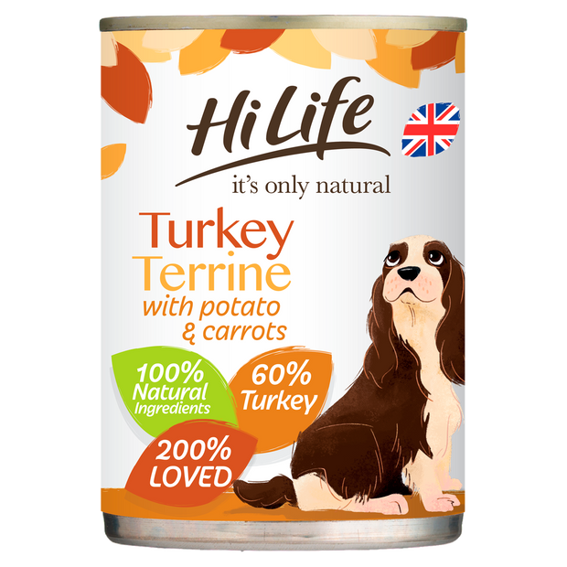 HiLife its only natural Turkey Terrine with Potato & Carrots