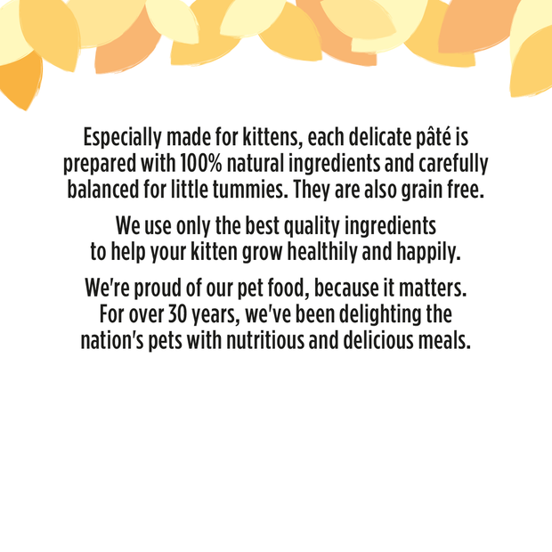 HiLife its only natural kitten cat food information, with 50% chicken