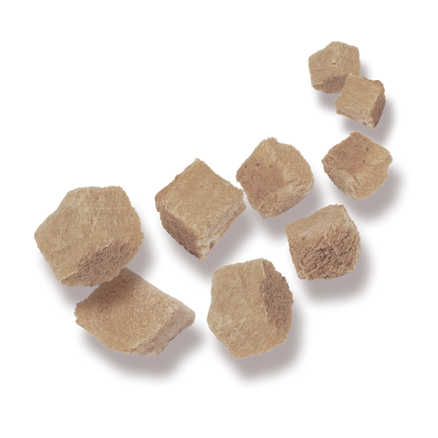 Picture of tumbling freeze dried duck breast treats