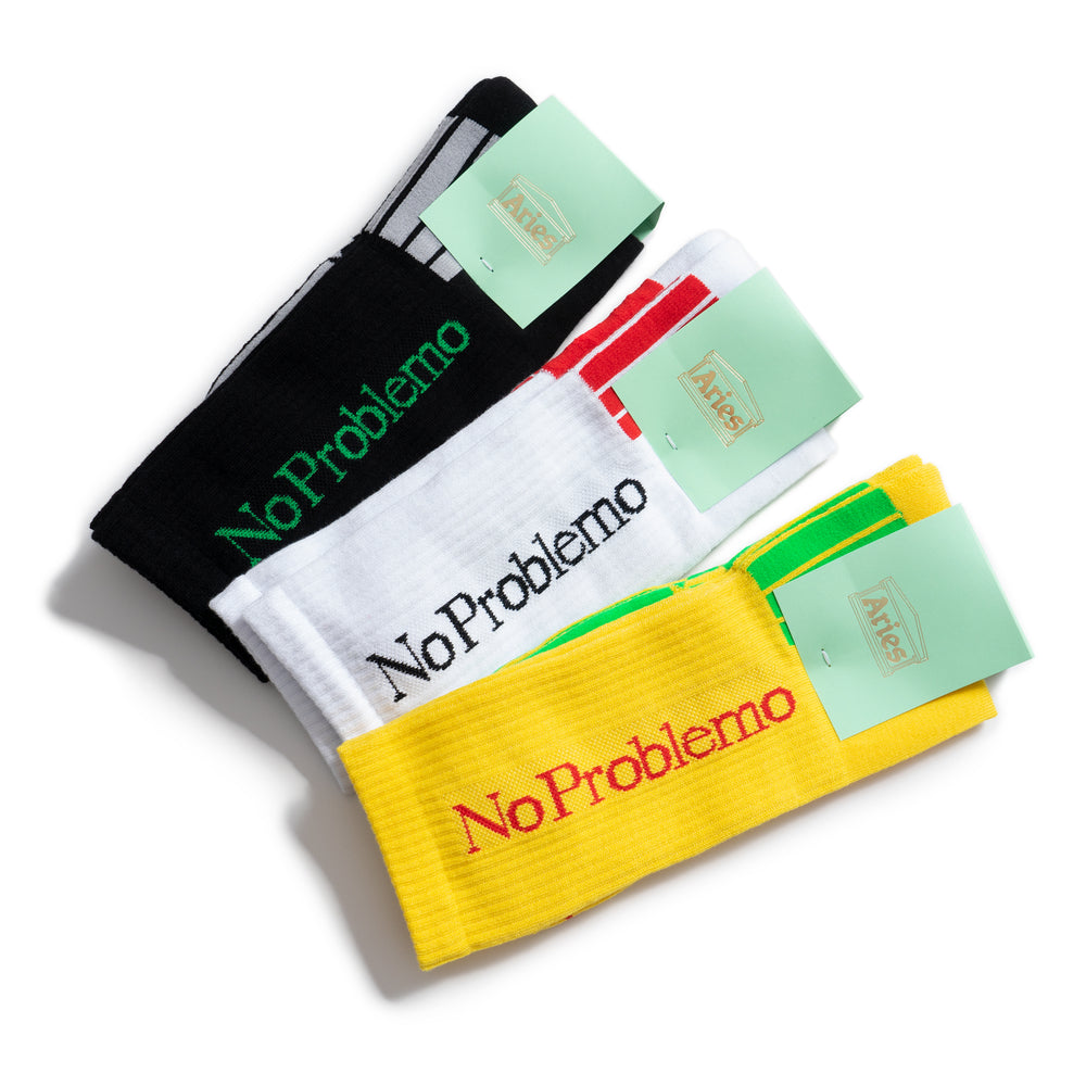 No Problemo Socks - Yellow