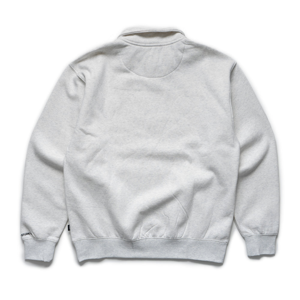 LQQK Studio Quarter Zip Sweatshirt - Ash Grey