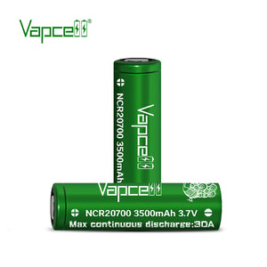 Vapcell Green 20700 Pair w/ Free Case - 3500mah 30A