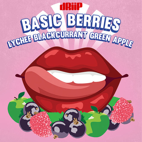 Basic Berries - Lychee Blackcurrant and Green Apple