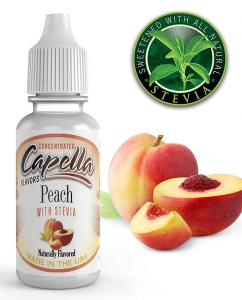 CAP Peach with Stevia – 30ml