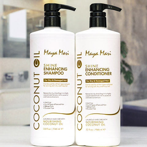 Maya Mari Coconut Oil Shampoo and Conditioner