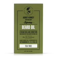 Load image into Gallery viewer, Abbot Kinney Apothecary Men's 3-in-1 Moisturizing Shampoo, Conditioner, Body Wash and Softening Beard Oil Set - Tea Tree