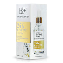 Load image into Gallery viewer, BH DERMCENTER 24 K Gold Peptide Firming Serum - For Brighter, Smoother Skin, 1oz