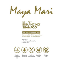 Load image into Gallery viewer, Maya Mari Shine Enhancing Shampoo, Coconut Oil Hydration for Dry Damaged Hair, 32 oz