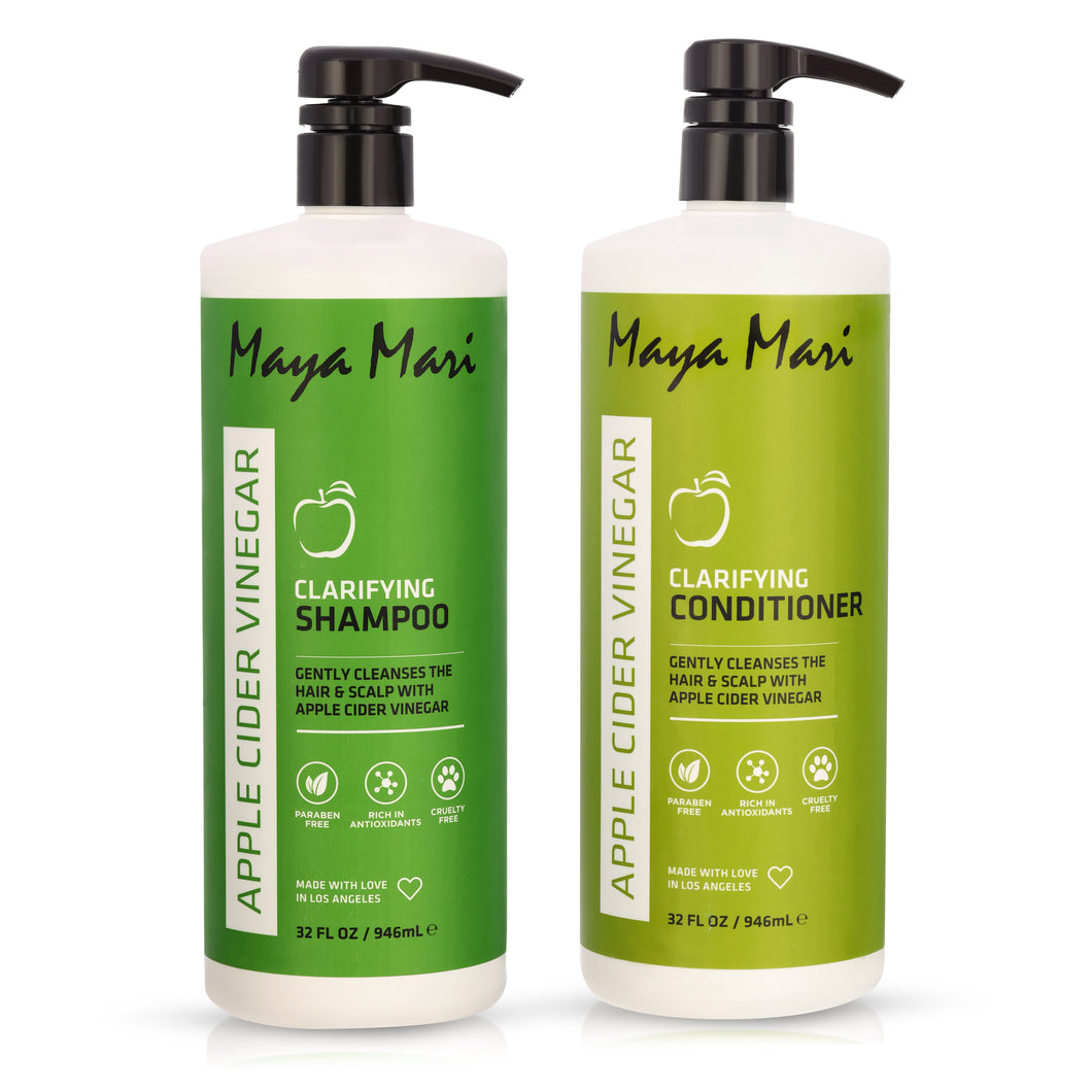 Maya Mari Apple Cider Vinegar Clarifying Shampoo & Conditioner Set - 32oz