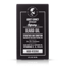 Load image into Gallery viewer, Abbot Kinney Apothecary Softening Beard and Mustache Oil, Wood Reserve, 2oz