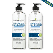 Load image into Gallery viewer, THE CLEAN STANDARD Hand Sanitizer, 16 oz x 2 bottles = 32oz with Fresh Citrus Scent, with Aloe Vera and Vitamin E, Moisturizing Formula