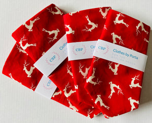 Clothes By Portia - Christmas Bandana - Racing Reindeers