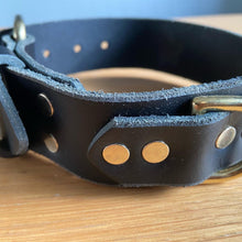 Load image into Gallery viewer, Dream Star Black Leather Collar