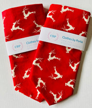 Load image into Gallery viewer, Clothes By Portia - Christmas Bandana - Racing Reindeers